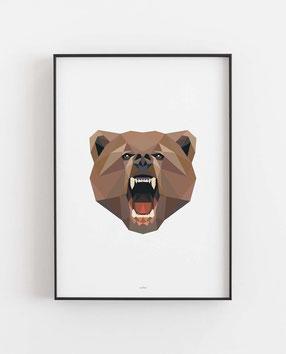 Poly Art Bär