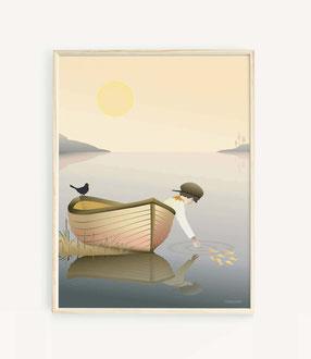 Skandinavisches Poster als Geschenk
