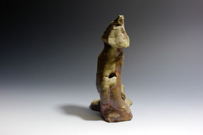 "Land Memory series #3, woodfired stoneware. Inspired by Tent Rocks, Cochiti Pueblo.  7.75"" x 5"" x 4"""