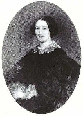 Ci dessus : Anna de Meeûs jeune fille, peinte par Portaels à 33 ans, et en supérieur des religieuses de l'Adoration perpétuelle.