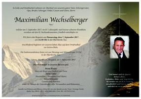 Parte Max Wechselberger +3.9.2017