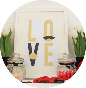 Bild: Bildgeschenk selber machen, Geschenkidee zum Valentinstag, Hochzeitsgeschenk, Partystories