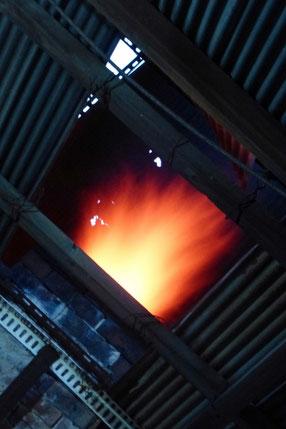 煙突からの炎