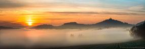 Sonnenaufgang über Torfstich Mühlberg