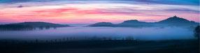 Sonnenaufgang über dem Torfstich Mühlberg