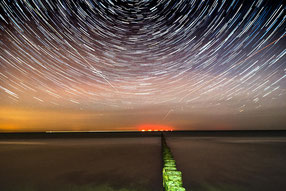 Startrail am Nordstrand bei Prerow
