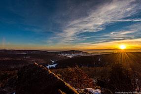 Sonnenuntergang auf dem Inselsberg
