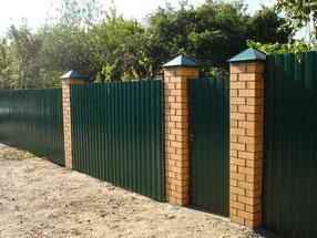 Забор из профнастила в Дубне