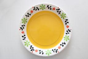 すでに模様の入った紙皿を使うと簡単!
