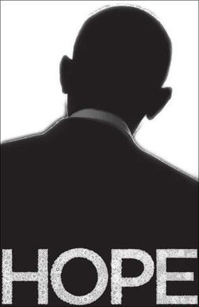 Poster creado para el día de la elección de Barack Obama - Pentagram.