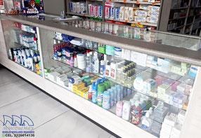 Vitrinas para farmacia, mostradores para farmacia