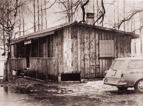 Klubhütte Früher