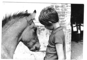 Thierry et un de leur 1er poulain