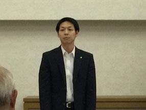 来賓として参加して頂いた鈴木直道夕張市長
