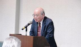 ご講演の復本一郎 神奈川大学名誉教授    写真:高村会員