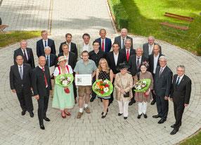 Bild: Gruppenfoto Betriebsjubiläum Firma Anthuber
