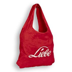 Nylon Shopping bag faltbare Einkaufstasche Pocket Flies Non Woven Liebe Polyester