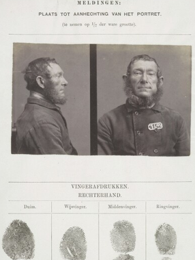 Signalementkaart Veenhuizen opname 26-11-1897