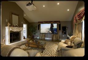 Домашний кинотеатр в комнате отдыха