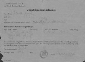 Verpflegungsnachweis Zwickau
