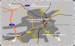 Karte Chemnitz Anfahrt Fenster in die Erdgeschichte