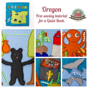 Quiet book Oregon Tutorial touch feel toddler