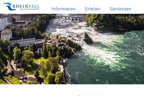 Wasserfall des Rheins mit Aussichtspunkt