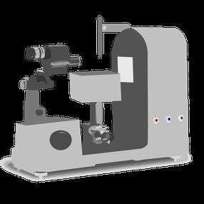 旧式の接触角計イラスト