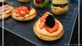 Ecrevisses, crème tomatée à l'ail et piment d'Espelette, truffe du Lot