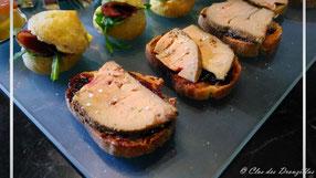 Foie gras façon gravlax et chutney de figues au balsamique