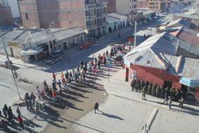 manifestation à Uyuni