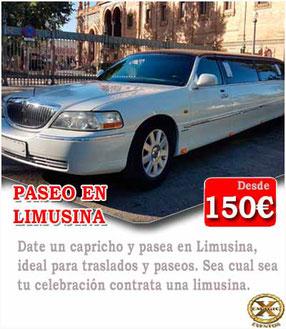 limusina blanca lyncoln para despedidas de solteras en Córdoba