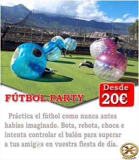 bolas de bubble futbol Córdoba