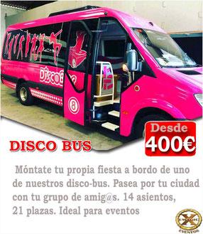 Discobus negro para despedidas de solteros y solteras en Córdoba