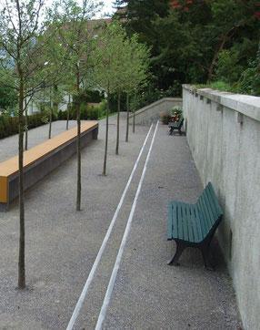 So sah die soeben fertiggestellte Anlage am 5. Juni 2013, zwei Tage vor der Einweihung, aus.