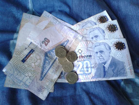 Nordirische Pfund aus Derry.