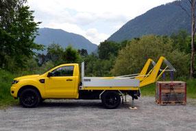 HUBiBOY SUPER MONSTER, das Verladesystem inkl. Aluminiumpritsche für Pickup Trucks