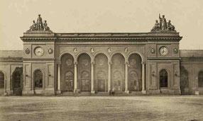 """Mittelbau des """"Aufnahmsgebäudes"""" von Ludwig Maring; Quelle: Staatsarchiv Basel-Stadt, AL 45, 2-56-1"""