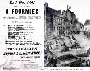 Avis à la population après la fusillade du 1er mai 1891 à Fourmies.