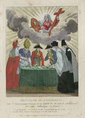 Signature du concordat : Source gallica.bnf.fr