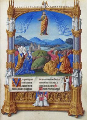 Les Très Riches Heures du duc de Berry - « L'Ascension » - Bibliothèque du Château de Chantilly - Ms 65, f° 184r -