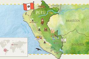 Im Westen der Pazifik, im Osten tropischer Regenwald und von Norden nach Süden die Anden-Gebirgskette: Peru ist ein Land mit vielen Klimazonen und Naturräumen.