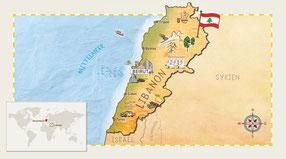Libanon-Karte