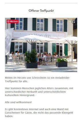 Foto und Link zum Begegnungszentrum Mittendrin in Schriesheim
