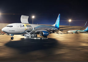 Versatile and 20% more fuel efficient than normal 737 freighters. Image: Boeing