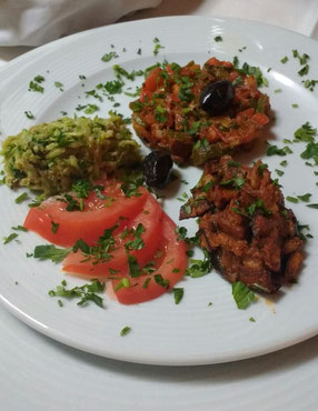 Marrakesh style starters prepared by me!