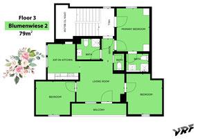 Skizze Ferienwohnung Blumenwiese II