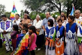 El intendente de Saenz Peña, Gerardo Cipolini durante la ceremonia. Imagen: chacodiapordia.com