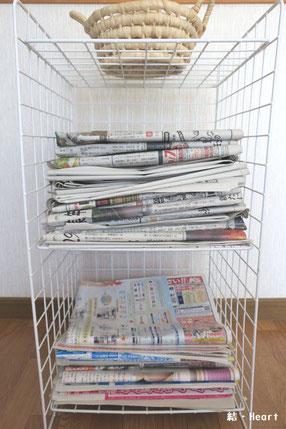 新聞 チラシ ラック 収納 100均