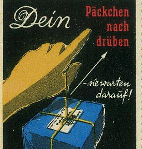 Paket-Marke der Deutschen Bundespost, um 1952. Quelle: www.suevia-strassburg.